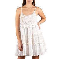 Abito corto bianco in tessuto , Primadonna, 150500005TSBIANUNI, 001a