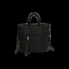 Sac duvet noir en tissu, IDEE REGALO, 165123006TSNEROUNI, 003 preview