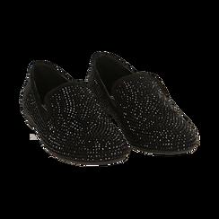 Mocassini gioiello neri in microfibra, Primadonna, 164982508MPNERO035, 002 preview