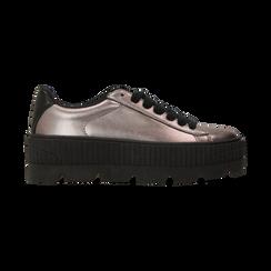 Sneakers canna di fucile con suola extra platform zigrinata, Scarpe, 122618776EPCANN, 001 preview