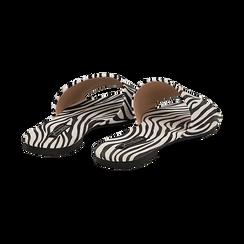 Mules flat zebrate in microfibra, Primadonna, 134989113MFZEBR036, 004 preview