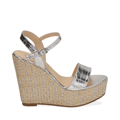 WOMEN SHOES WEDGE EP-CROCO ARGE, Zapatos, 154983292CCARGE036, 001a