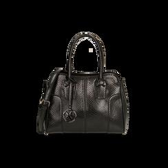 Sac à main noir imprimé vipère, Primadonna, 165702675EVNEROUNI, 001 preview