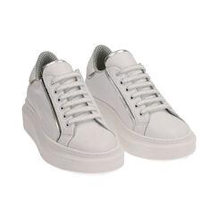 Baskets en cuir blanc/argent, Primadonna, 17L600101PEBIAR035, 002 preview