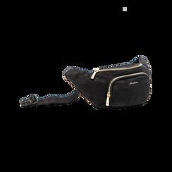 Marsupio nero in velluto, Saldi Borse, 125921084VLNEROUNI, 003 preview
