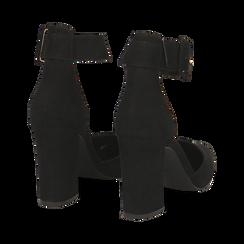 Décolleté nere in microfibra, tacco 9,50 cm , Scarpe, 144895575MFNERO, 004 preview