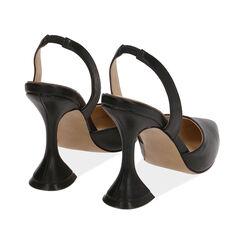 Slingback nere, tacco 10,5 cm , Primadonna, 172190572EPNERO035, 004 preview