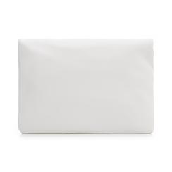 Bustina bianca in eco-pelle, ripiegata su sè stessa, Borse, 113308590EPBIANUNI, 003 preview