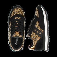 Sneakers leopard marroni in eco-cavallino , Scarpe, 142619079CVMALE, 003 preview