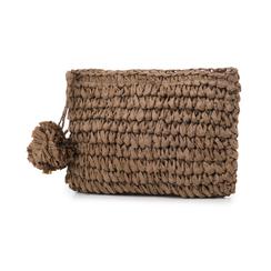 Pochette mare marrone in paglia intrecciata, Saldi Estivi, 134504239PGMARRUNI, 004 preview