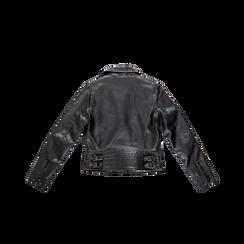 Chiodo nero ecopelle, Abbigliamento, 126500721EPNERO, 006 preview