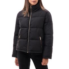 Piumino nero in nylon, Abbigliamento, 146501195NYNERO3XL, 001a