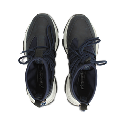 Sneakers blu dad shoes a calza in lycra, Primadonna, 124108060LYBLUE036, 004 preview