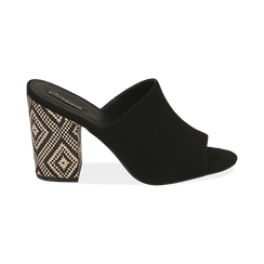 CALZATURA CIABATTE MICROFIBRA NERO, Zapatos, 154970855MFNERO035, 001 preview