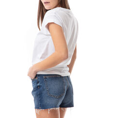 T-shirt blanc à imprimé chaussures, Primadonna, 17I704001TSBIANL, 002 preview