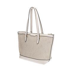Maxi-bolso trenzado blanco, Primadonna, 172301047EPBIANUNI, 002a