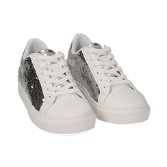 Sneakers con paillettes argento , Scarpe, 152602021PLARGE036, 002 preview