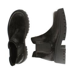Chelsea boots neri in camoscio, tacco 5,5 cm , Primadonna, 187204438CMNERO035, 003 preview