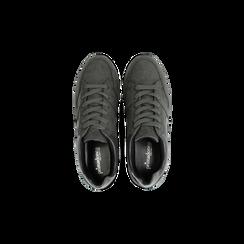 Sneakers grigie con maxi platform a righe, Scarpe, 122800321MFGRIG, 004 preview