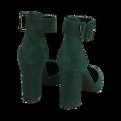 Décolleté verdi in microfibra, tacco 9,50 cm , Scarpe, 144895575MFVERD036, 004 preview