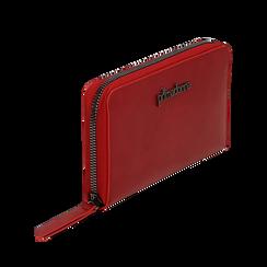 Portafogli rosso in eco-pelle, Borse, 143700124EPROSSUNI, 002a