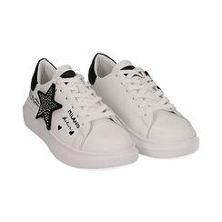 Sneaker bianche con stella, Primadonna, 172621010EPBIAN035, 002 preview