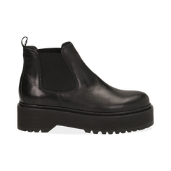 Chelsea boots neri in vera pelle, tacco 4,5 cm , Primadonna, 147728503PENERO040, 001 preview