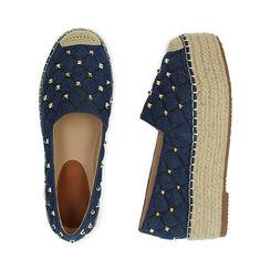 Espadrillas jeans, platform 5 cm , Primadonna, 174902111TSJEAN035, 003 preview