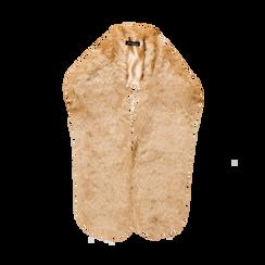 Coprispalla in eco-pelliccia nude, Saldi, 12B414001FUNUDE, 002 preview