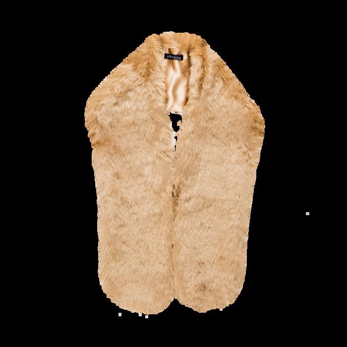 Coprispalla in eco-pelliccia nude, Saldi, 12B414001FUNUDE