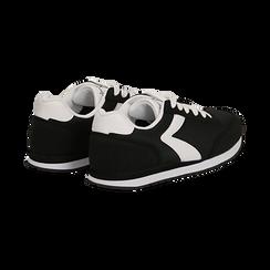 Sneakers nere in tessuto, design aerodinamico, Scarpe, 132619024TSNERO036, 004 preview