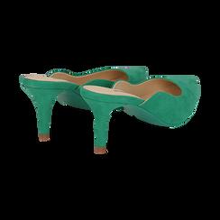 Mules verdi in microfibra, tacco 7,50 cm , Scarpe, 152133675MFVERD038, 004 preview