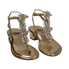 WOMEN SHOES SANDAL LAMINATED OROG, PROMOTIONS, 154927101LMOROG036, 002 preview