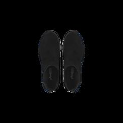 Chelsea Boots neri in vero camoscio, tacco medio 5,5 cm, Scarpe, 127723509CMNERO, 004 preview