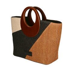 Bolso de rafia multicolor, Primadonna, 17D901193RFMULTUNI, 002a