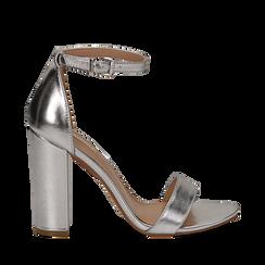 Sandali argento in laminato, tacco 10,50 cm , Primadonna, 132706086LMARGE035, 001a