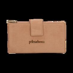 Portafogli nude in microfibra con 25 vani , Borse, 133322158MFNUDEUNI, 001 preview