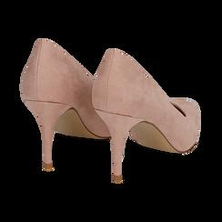 Décolleté en microfibra color nude, tacón 9 cm , Zapatos, 152182992MFNUDE036, 004 preview