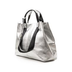 Maxi-bag argento in laminato, Borse, 132384211LMARGEUNI, 004 preview