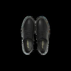 Francesine stringate nera con mini-borchie  , Scarpe, 120691312EPNERO, 004 preview