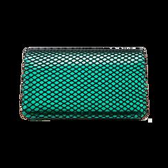 Pochette verde a rete in ecopelle effetto specchio, Primadonna, 123308810SPVERDUNI, 002 preview