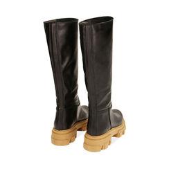 Botas de piel en negro, tacón 4 cm, Primadonna, 17L666810VINERO036, 003 preview