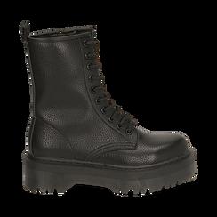 Botas militares en color negro con procesamiento caído, Primadonna, 162831293ELNERO035, 001 preview