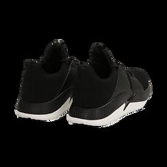 Sneakers nere in tessuto tecnico e suola wave, Scarpe, 132619310TSNERO036, 004 preview