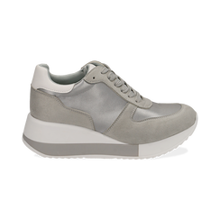 Dad Shoes en satin gris, Chaussures, 152821511RSGRIG036, 001 preview