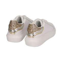 Baskets blanc / or, Chaussures, 172602011EPBIOR035, 004 preview