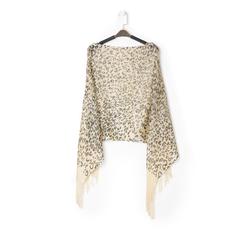 Poncho leopard marrone in tessuto laminato, Abbigliamento, 13B445077TSLEMAUNI, 001a