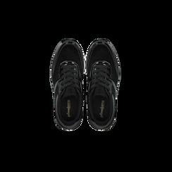 Sneakers nere dettagli in vernice e suola bianca in gomma, Scarpe, 120125906VLNERO, 004 preview