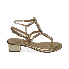 WOMEN SHOES SANDAL LAMINATED OROG, PROMOTIONS, 154927101LMOROG036, 001 preview