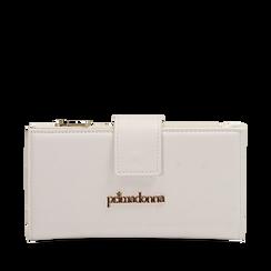 Portafogli bianco in eco-pelle, Primadonna, 155122158EPBIANUNI, 001a